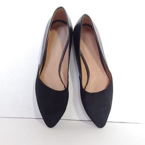 Madewell Black suede/leather pointed toe flats